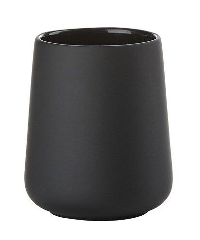 zone zahnputzbecher nova one keramik soft touch schwarz. Black Bedroom Furniture Sets. Home Design Ideas
