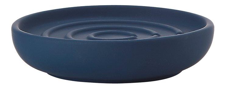 zone seifenschale nova one keramik soft touch blau kaufen. Black Bedroom Furniture Sets. Home Design Ideas