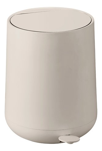 zone pedaleimer nova soft touch 5 l beige matt kaufen. Black Bedroom Furniture Sets. Home Design Ideas