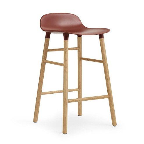 normann copenhagen barhocker form 65 cm eiche rot kaufen. Black Bedroom Furniture Sets. Home Design Ideas