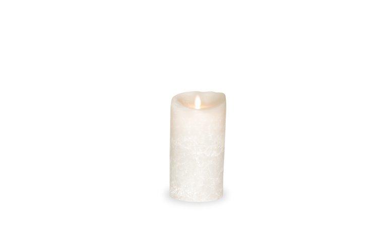 sompex led kerze flame wei gefrostet 8 x 18cm timer kaufen. Black Bedroom Furniture Sets. Home Design Ideas