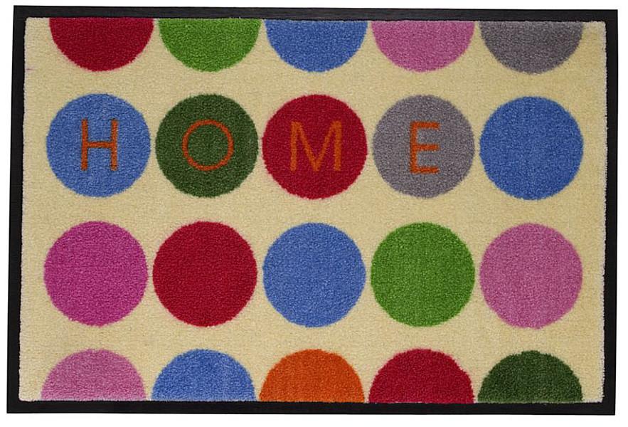gift company fu matte home dots waschbar bunt 75 x 50cm jetzt online bestellen. Black Bedroom Furniture Sets. Home Design Ideas