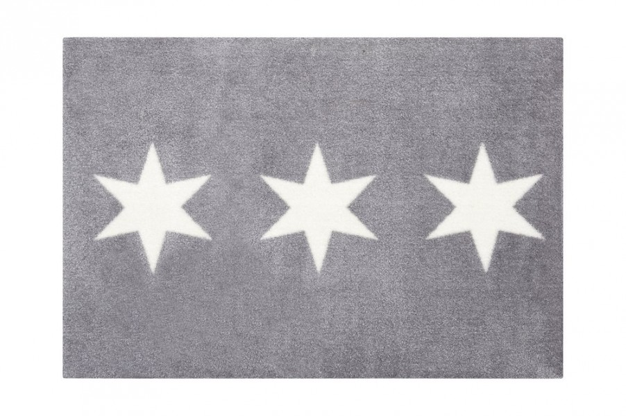 fu matte stars waschbar grau 66x90cm fu matten t rstopper diele wohnen. Black Bedroom Furniture Sets. Home Design Ideas