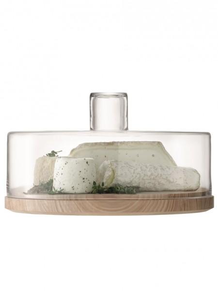 lsa servierplatte lotta mit haube glas esche 32cm jetzt online bestellen. Black Bedroom Furniture Sets. Home Design Ideas