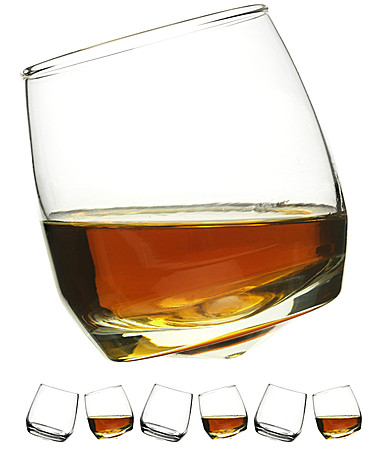 "Whisky Glas Bar ""Rocking"" runder Boden, 6er Set"