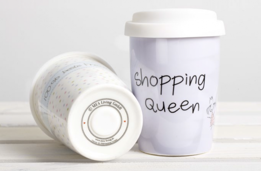 coffee to go becher shopping queen von mea living jetzt online bestellen. Black Bedroom Furniture Sets. Home Design Ideas